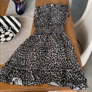 MICHAEL Michael Kors Black leopard print dress